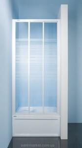 Душевая дверь в нишу Sanplast Classic стеклянная раздвижная на роликах 90х185 DTR-c-90-S W4