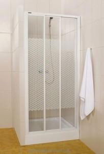 Душевая дверь в нишу SANPLAST Classic стеклянная раздвижная на роликах 90х185 DTR-c-90