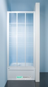 Душевая дверь в нишу SANPLAST Classic стеклянная раздвижная на роликах 110х185 DTr-c-110-S W4