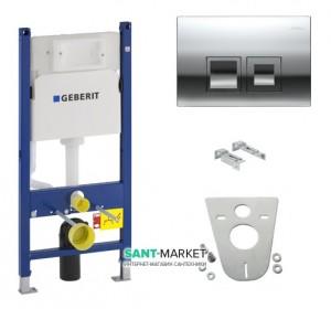 Система инсталляции для подвесных унитазов Geberit Duofix 4в1 50х112х12 458.168.21.1