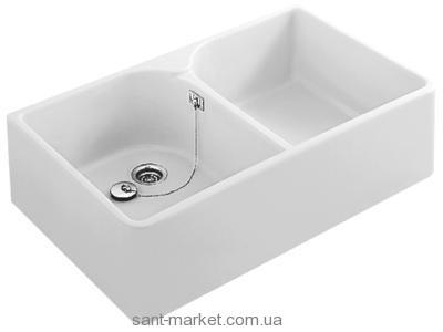 Раковина для ванной накладная двойная Villeroy & Boch коллекция O.Novo белая 63320001