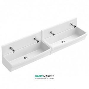Раковина для ванной подвесная двойная Villeroy & Boch коллекция O.Novo белая 68200001