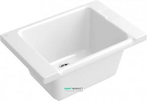 Раковина для ванной встраиваемая для домашней прачечной Villeroy & Boch коллекция O.Novo белая 69221001