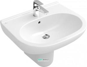 Раковина для ванной подвесная Villeroy & Boch коллекция O.Novo белая 51606701