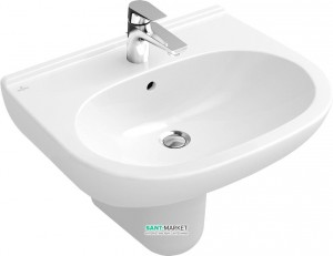 Раковина для ванной подвесная Villeroy & Boch коллекция O.Novo белая 51606101