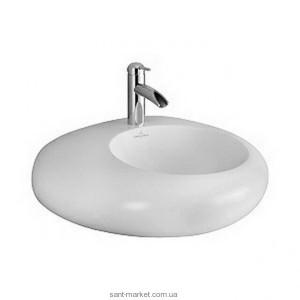 Раковина для ванной накладная Villeroy & Boch коллекция Pure Stone белая 517261R2