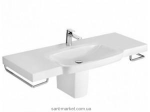 Раковина для ванной подвесная умывальник-столешница с вешалкой Villeroy & Boch Sentique белая 5142A101