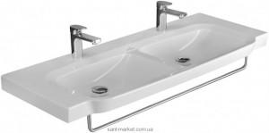 Раковина для ванной подвесная двойная с вешалкой Villeroy & Boch коллекция Sentique белая 5126D101
