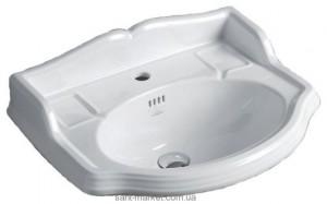 Раковина для ванной подвесная Simas Arcade 58.5х46х23.5 белая AR814