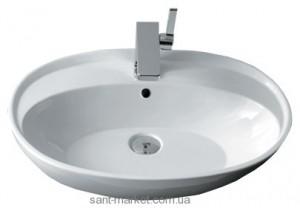 Раковина для ванной подвесная овальная Simas Bohemien 60х45.5х16 белая BO11