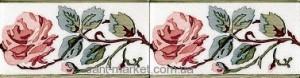 Adex керамическая плитка Cenefa rosas PB Carmin C/C B 7.5x15 ADMO3025