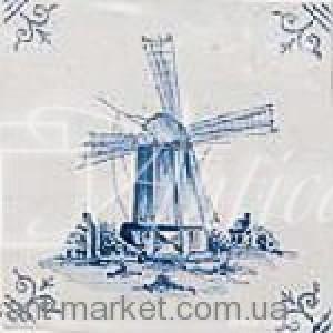 Adex плитка Dibujo delft № 1 C/cantonera 13x13 ADRU6002