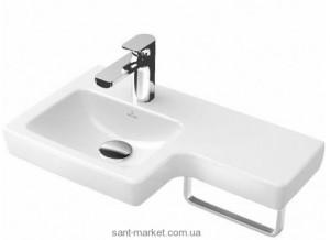 Раковина для ванной подвесная с вешалкой Villeroy & Boch коллекция Subway 2.0 белая 41156L01