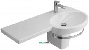 Раковина для ванной подвесная с вешалкой Villeroy & Boch коллекция Variable белая 5158A101