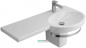 Раковина для ванной подвесная с вешалкой Villeroy & Boch коллекция Variable белая 5157A101