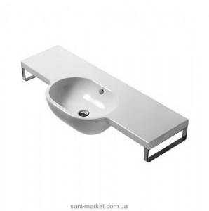 Раковина для ванной подвесная умывальник-столешница Catalano коллекция Sistema C2 белая 120C2