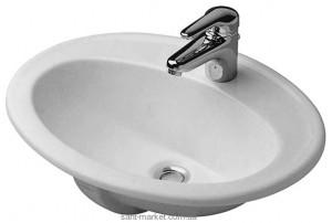 Раковина для ванной встраиваемая Duravit коллекция Duraplus белая 0472560000