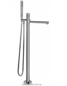Смеситель однорычажный напольный (отдельностоящий) с душем Gessi Коллекция Ovale хром 24901 031