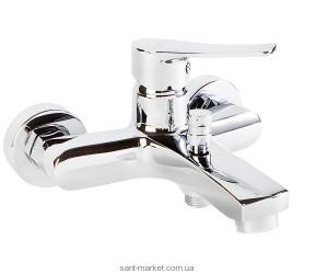 Смеситель однорычажный для ванны с коротким изливом Volle коллекция Daniella хром 15162100