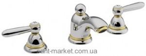 Смеситель для раковины двухрычажный с донным клапаном Hansgrohe Axor Carlton хром/золото 17125090