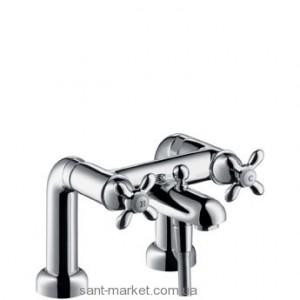 Смеситель двухвентильный на борт ванны Hansgrohe коллекция Carlton хром/золото 17470090