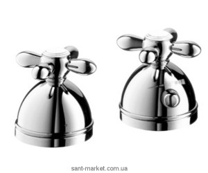 Смеситель с термостатом двухвентильный на борт ванны Hansgrohe коллекция Axor Carlton хром 17480000