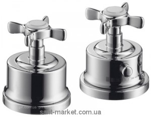 Смеситель с термостатом двухвентильный на борт ванны Hansgrohe коллекция Axor Mountreux хром 16480000