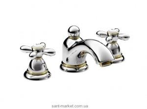 Смеситель для раковины двухвентильный с донным клапаном Hansgrohe Axor Carlton хром/золото 17133090