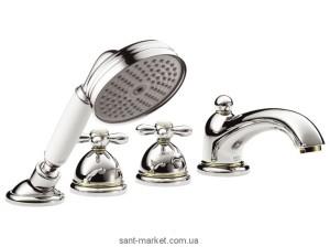 Смеситель с термостатом на борт ванны с душем Hansgrohe Axor Carlton хром/золото 17461090