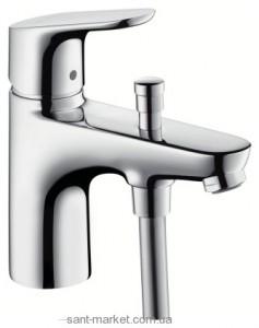 Смеситель для ванны однорычажный с коротким изливом Hansgrohe коллекция Focus хром 31938000