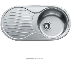Мойка для кухни овальная Teka DR 80 1B 1D оборачиваемое крыло, врезная, нержавеющая сталь, хром микротекстура 10110016