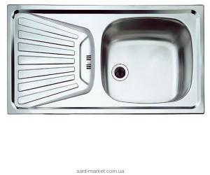 Мойка для кухни прямоугольная Teka DEVA оборачиваемое крыло, врезная, нержавеющая сталь, хром матовая 10133003