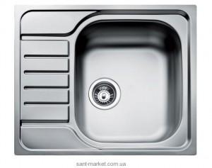 Мойка для кухни прямоугольная Teka UNIVERSAL 580.500 1B 1D оборачиваемое крыло, врезная, нержавеющая сталь, хром микротекстура 30000061
