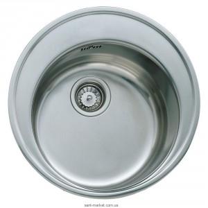 Мойка для кухни круглая Teka Centroval 45 врезная, нержавеющая сталь, хром микротекстура 10111024