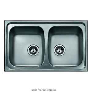 Мойка для кухни прямоугольная Teka Basico 79 2B, 2 чаши, врезная, нержавеющая сталь, хром матовая 11124025