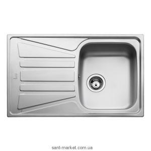 Мойка для кухни прямоугольная Teka Basico 79 1B 1D оборачиваемое крыло, врезная, нержавеющая сталь, хром матовая 10124019