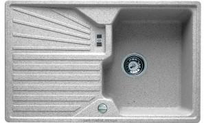 Мойка для кухни прямоугольная TEKA CASCAD 45B TG оборачиваемое крыло, врезная, гранит, белая 87301
