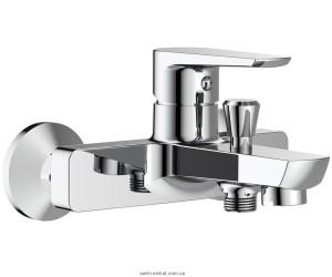 Смеситель однорычажный для ванны с коротким изливом Imprese коллекция Breclav хром 10245
