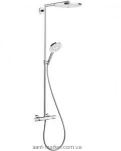 Hansgrohe Raindance Select S 300 2jet Showerpipe Душевая система хром/белый 27133400