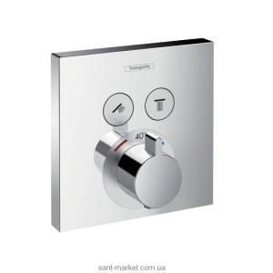 Смеситель для душа встраиваемый с термостатом Hansgrohe коллекция Shower Select хром 15763000