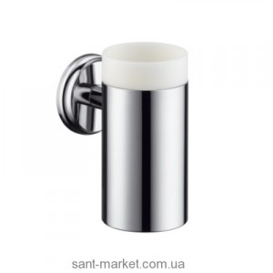 Hansgrohe LOGIS CLASSIC Стаканчик для зубных щеток керамический, шлифованый никель 41618820