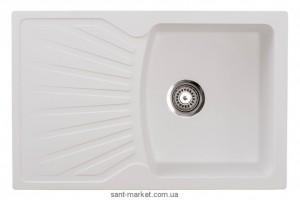 Мойка для кухни прямоугольная Metalac X GRANIT QUADRO PLUS крыло опционально, врезная, гранит, белая 137409
