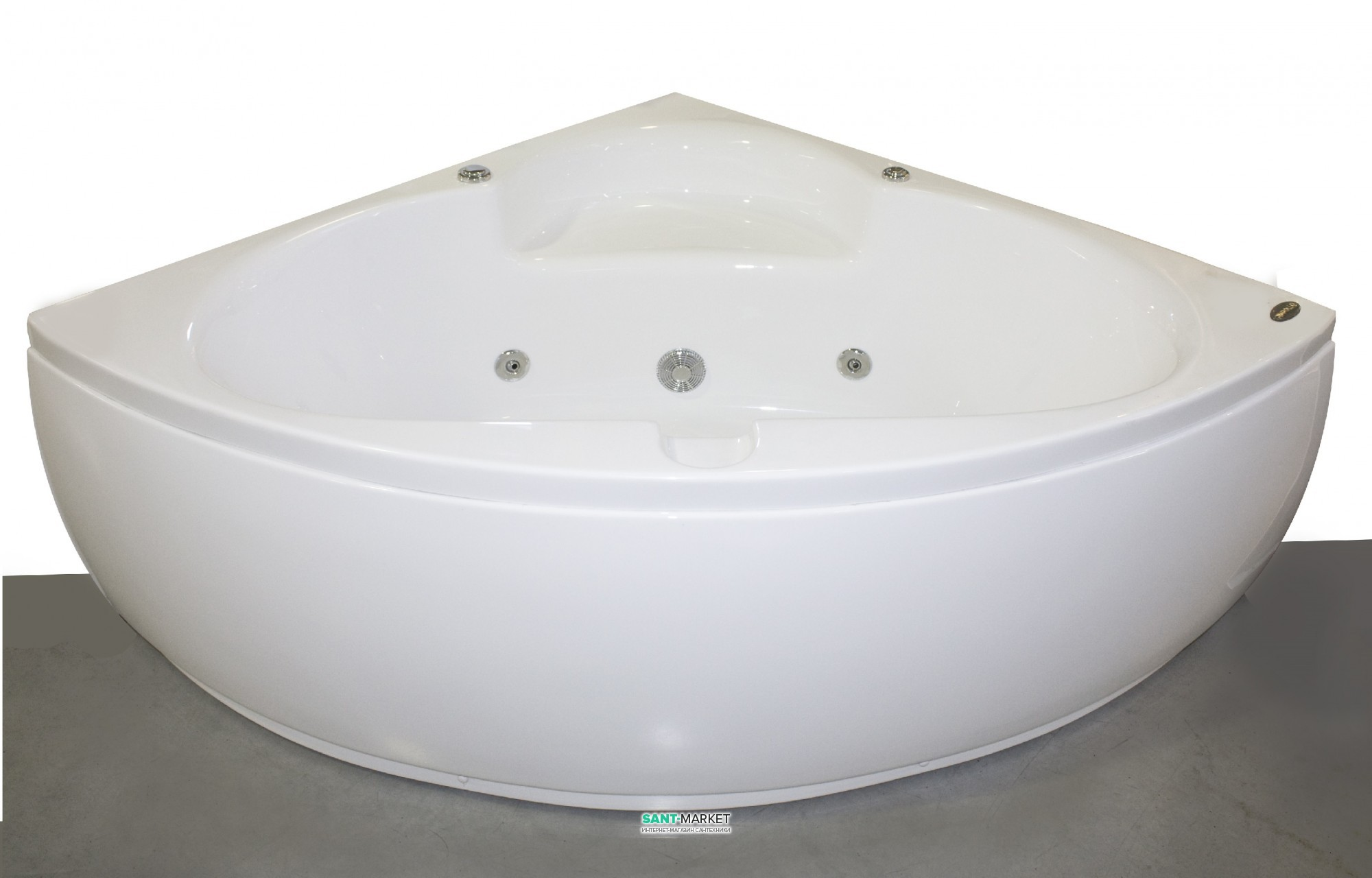 Ванна гидромассажная акриловая угловая Appollo 140х140х62 AT-970