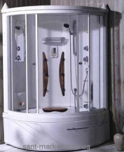 Паровой гидробокс угловой Appollo А-0812BS 124х124х215 с ванной