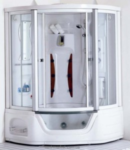 Паровой гидробокс угловой Appollo А - 0819 135х135х221 с ванной