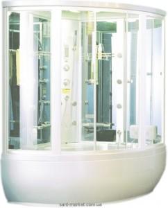 Паровой гидробокс угловой Appollo Guci-856BS 148x148x220 с ванной четверть круга