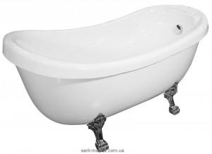 Ванна акриловая овальная Appollo TS 173х80х84 ТS-1705 + львиные ножки