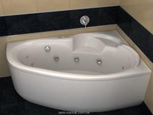 Ванна акриловая угловая асимметричная Koller Pool Коллекция Karina R 150х100х42