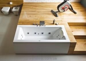 Ванна акриловая прямоугольная PoolSpa коллекция Windsor 180х85х63 PWPNT10ZN000000