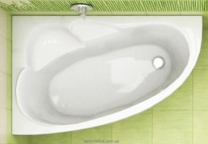 Ванна акриловая угловая Koller Pool коллекция Liona L 140х90х45